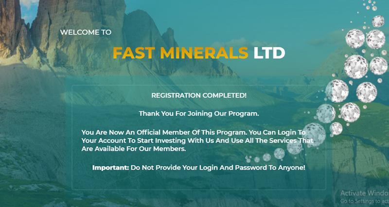 Fastminerals سایت استخراج ابری و کسب درآمد دلاری